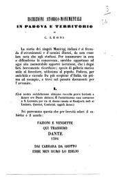Iscrizioni storico-monumentali in Padova e territorio di C. Leoni
