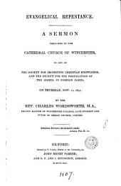 Evangelical repentance, a sermon. [With] Appendix