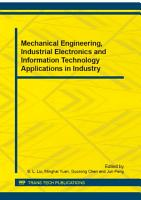 Mechanical Engineering  Industrial Electronics and Information Technology Applications in Industry PDF