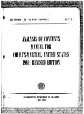 Analysis of Contents Manual for Courts-Martial