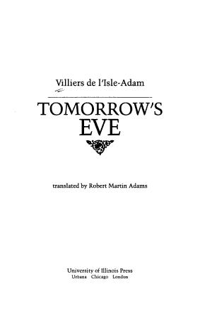 Tomorrow s Eve