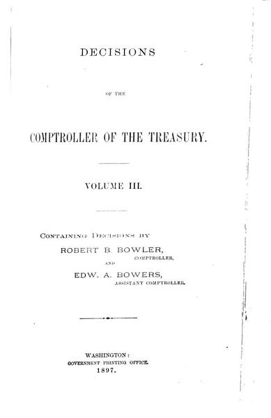 Download Decisions of the Comptroller of the Treasury Book