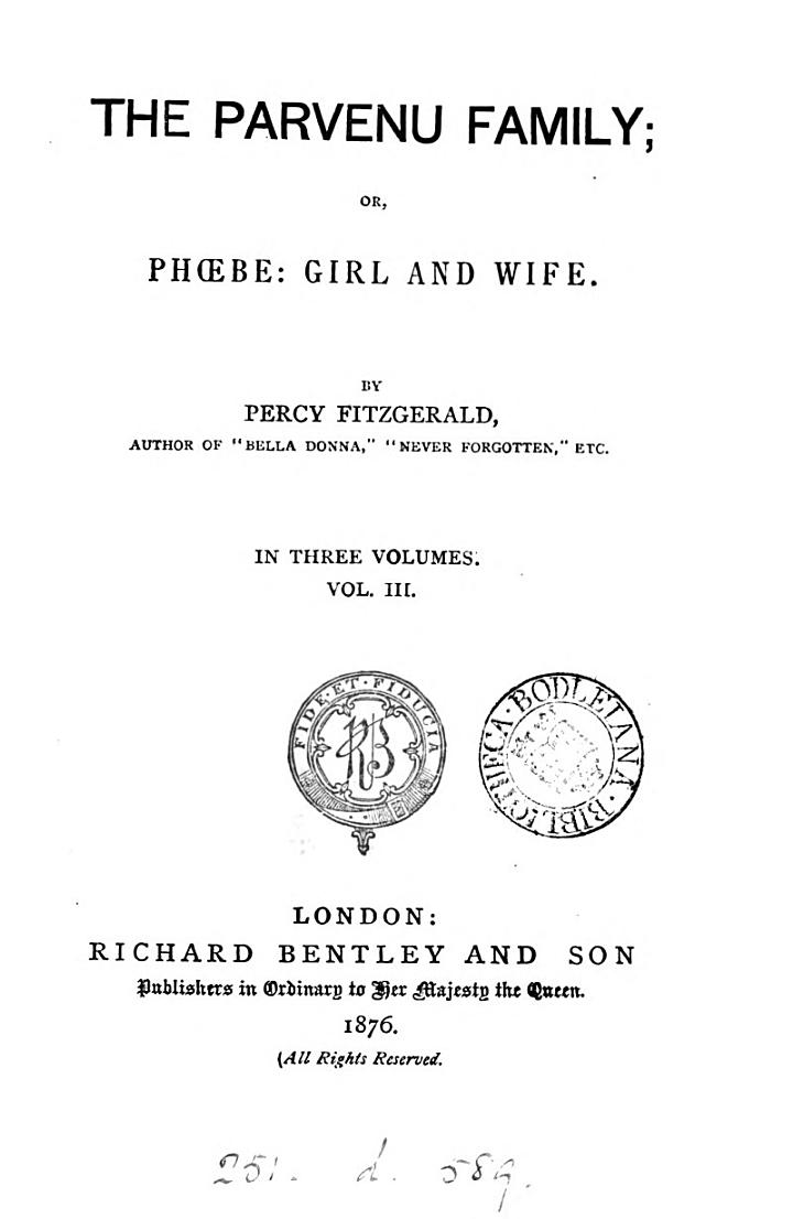The parvenu family; or, Phoebe, girl and wife