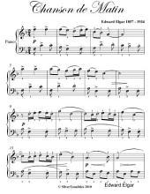 Chanson De Matin Easy Piano Sheet Music