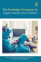 The Routledge Companion to Digital Media and Children PDF