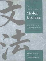 An Introduction to Modern Japanese  Volume 1  Grammar Lessons PDF