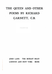 The Queen: And Other Poems