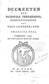 Decreeten der Nationale Vergadering, representeerende het volk van Nederland: Deel 12