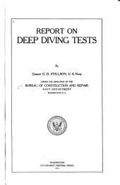 Report on deep diving tests