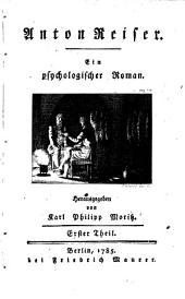 Anton Reiser: Ein psychologischer Roman, Band 1