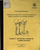 Recoleccion Y Manejo de Semillas Forestales PDF