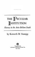 The Peculiar Institution PDF