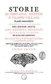 Storie di Giovanni, Matteo e Filippo Villani: Volume 1