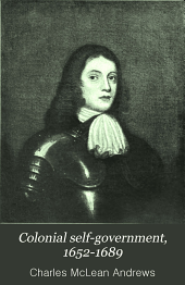 Colonial Self-government, 1652-1689: Volume 5