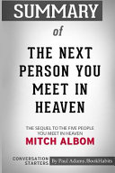 Summary of The Next Person You Meet in Heaven by Mitch Albom
