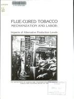 Flue cured Tobacco  Mechanization and Labor PDF