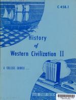 History of Western Civilization II PDF