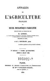 Annales de l'agriculture francoise. Red. par ... Tessier: Volume5;Volume15