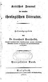 Kritisches Journal der neuesten theologischen Literatur: Band 14