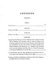 Report to the county of Lanark, of a plan for relieving public distress