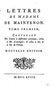 Lettres de Madame de Maintenon: Volume1