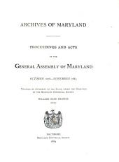 Proceedings and Acts: Jan. 1637-, Volume 7