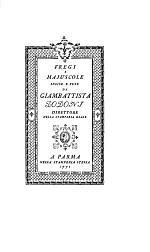 Fregi E Majuscole Incise E Fuse Da Giambattista Bodoni, Direttore Della Stamperia Reale