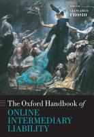 Oxford Handbook of Online Intermediary Liability PDF