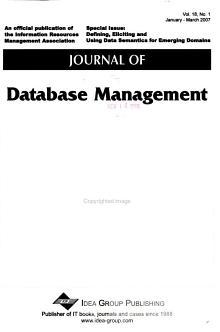 Journal of Database Management PDF