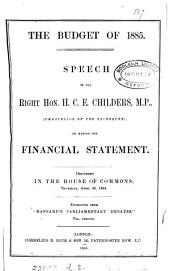 The budget of 1885, speech