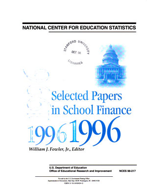 Selected Papers in School Finance PDF