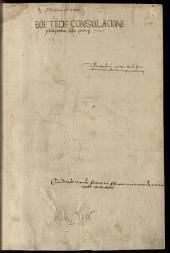 De consolatione philosophiae: mit Kommentar von Pseudo-Thomas Aquinas
