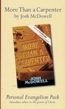 More Than a Carpenter Personal Evangelism