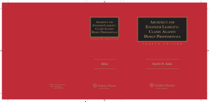 Architect And Engineer Liability Claims Against Design Professionals 4th Edition Book PDF