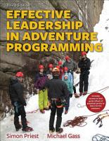Effective Leadership in Adventure Programming PDF