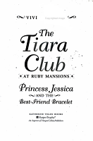 Tiara Club at Ruby Mansions 2  Princess Jessica and the Best Friend Bracelet  T PDF
