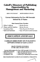 Cabell s Directory of Publishing Opportunities in Accounting  Economics and Finance PDF