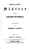 Historisch Politische Bl  tter f  r das Katholische Deutschland PDF