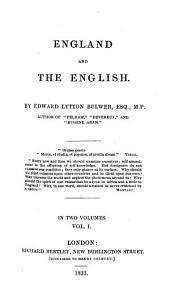 England and the English: Volume 1