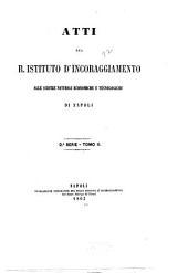 Atti del R. Istituto d'incoraggiamento di Napoli: Volumi 15-16