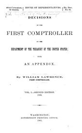 Decisions of the First Comptroller in the Department of the Treasury: Volume 1