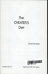 The Cheater s Diet PDF