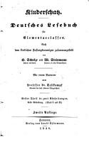 Kinderschatz  deutsches Lesebuch  ed   von H Schulze und W Steinmann PDF