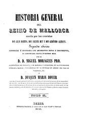 Historia general del Reino de Mallorca: Mit Tafeln in Steindruck, Band 2