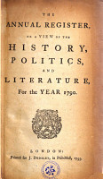 THE ANNUAL REGISTER  OR A VIEW OF THE HISTORY  POLITICS  AND LITERATURE  PDF