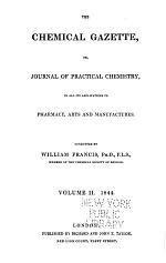 The Chemical Gazette