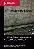 The Routledge Handbook of Critical Public Relations PDF