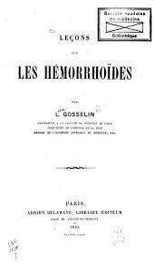 Leçons sur les hémorrhoïdes
