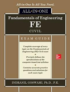Fundamentals of Engineering FE Civil All in One Exam Guide Book