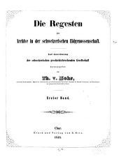 Die Regesten der Archive in der schweizerischen Eidgenossenschaft: Bd., 6. T.] Die Regesten der Benedictiner-Abtei Pfävers und der Landschaft Sargans